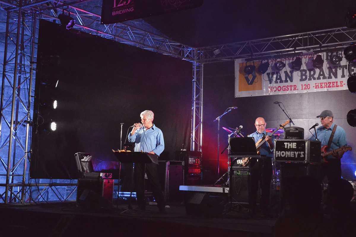 Guy Vandenbosche tijdens een optreden van The Honey's op de Burchtconcerten in 2013