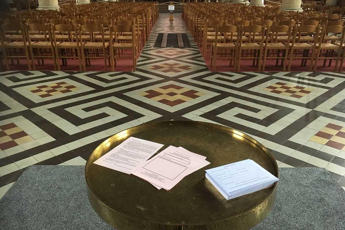 De stembriefjes in de kerk van Herzele
