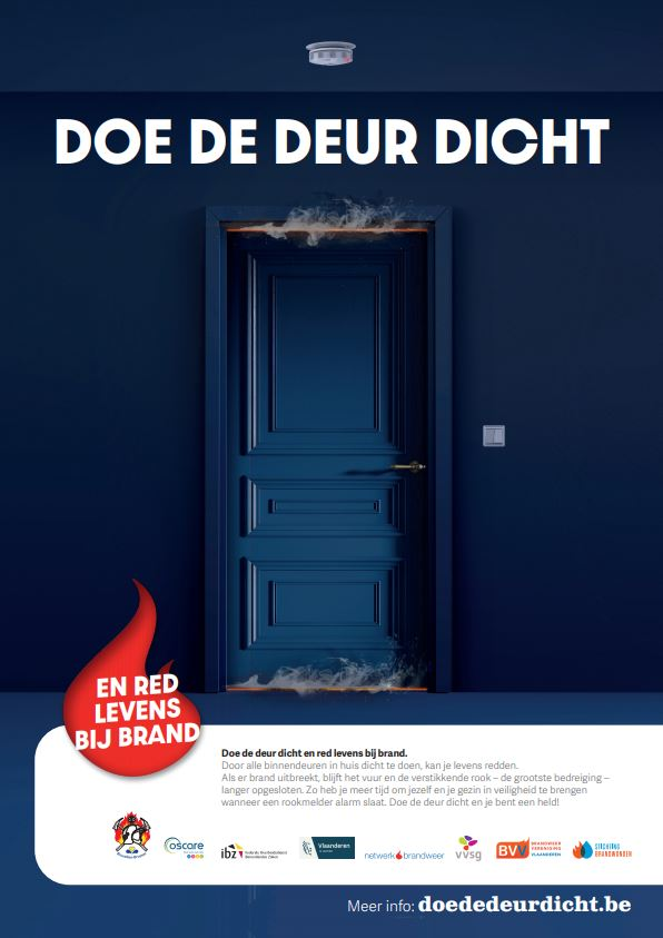Affiche van de campagne 'Doe De Deur Dicht'