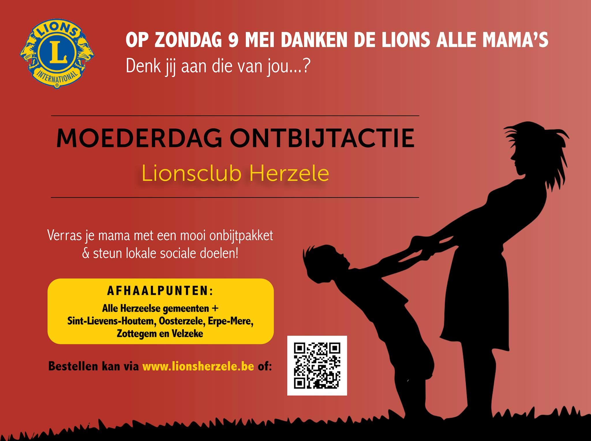 Affiche ontbijtmanden Moederdag Lions Herzele
