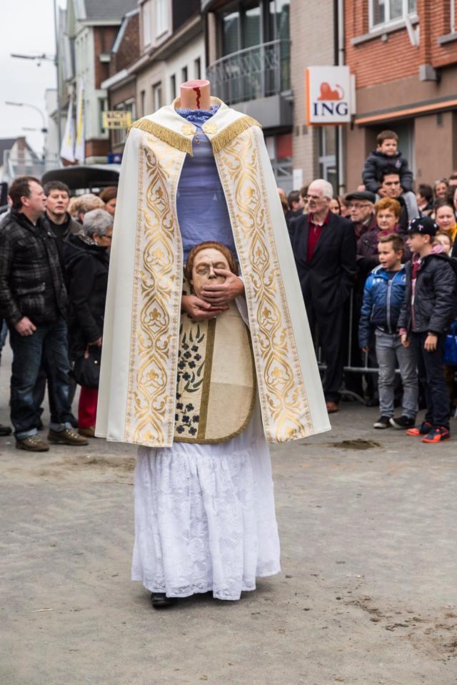 Livinusstoet bij de opening van de winterjaarmarkt in Sint-Lievens-Houtem